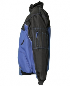 DUST Blouson Planam blau/schwarz links
