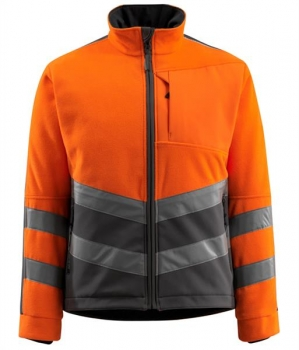 Warnschutz Fleecejacke Sheffield Mascot Safe Supreme orange-dunkelanthrazit