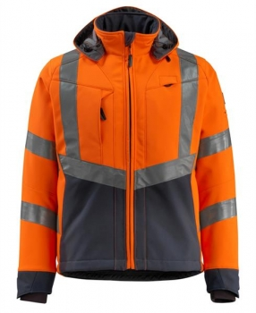 Mascot Blackpool Softshell Jacke Safe Supreme orange-schwarzblau
