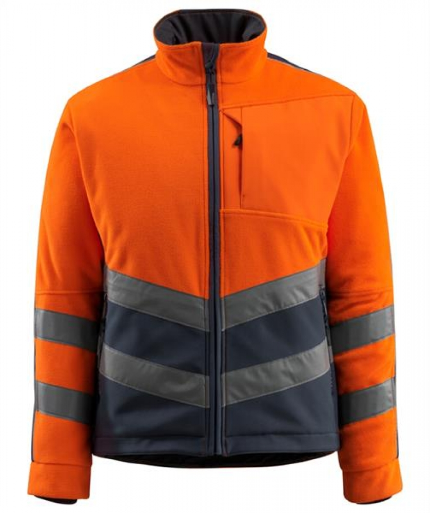 Warnschutz Fleecejacke Sheffield Mascot Safe Supreme orange-schwarzblau