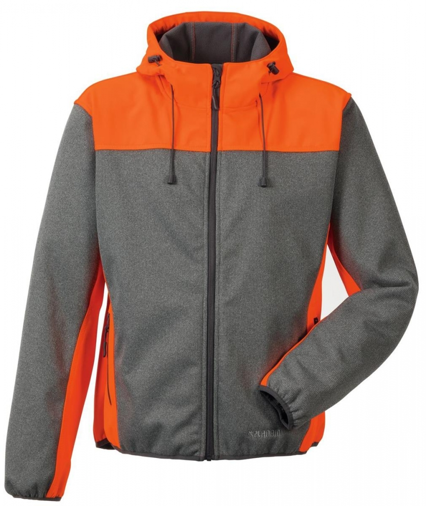 Planam Softshelljacke KONTRAST Outdoor 3732 grau-orange