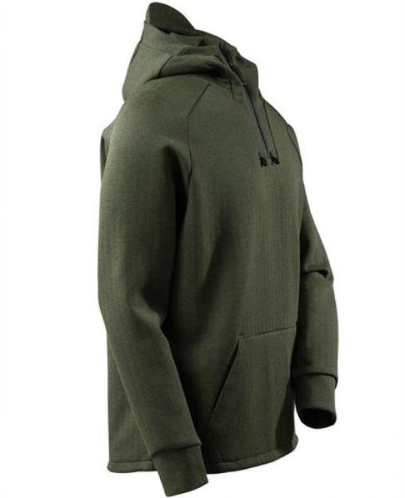 Mascot Kapuzensweatshirt, kurzem Reißverschluss Kapuzensweatshirt Schwarz meliertSchwarz